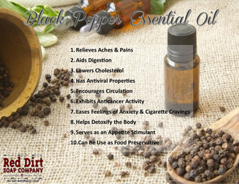Black Pepper Essential Oil - Red Dirt Soap Company