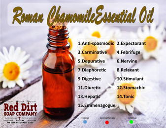 Roman Chamomile essential oil—Red Dirt Soap Company