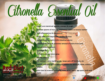 Citronella essential oil—Red Dirt Soap Company