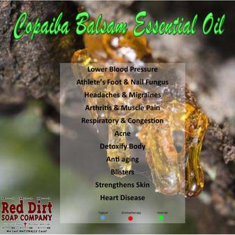 COPAIBA BALSAM ESSENTIAL OIL, RED DIRT SOAP