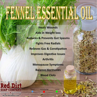 FENNEL ESSENTIAL OIL, RED DIRT SOAP