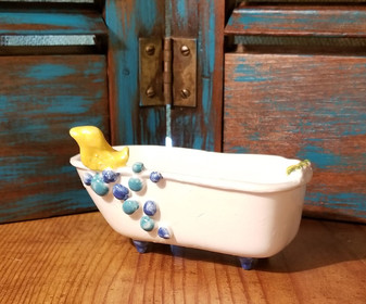 Claw Foot Bath Tub Soap Dish - Handmade in Oklahoma Yellow Duck