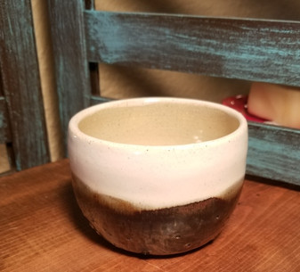 Hot Latte Hand Thrown Stoneware Shave Mug