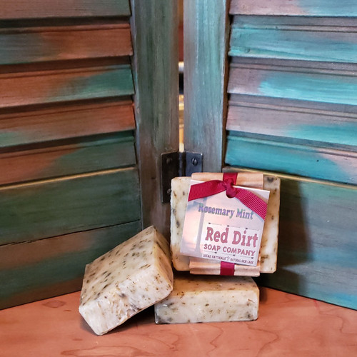 Rosemary Mint Bar, Red Dirt Soap, Natural soap, natural skin care