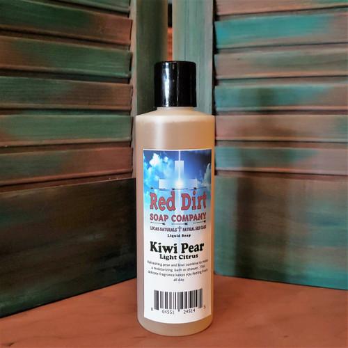KIWI PEAR, NATURAL LIQUID SOAP, RED DIRT SOAP