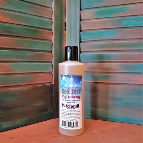 PATCHOULI, NATURAL LIQUID SOAP, RED DIRT SOAP