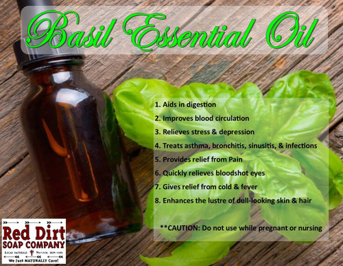 Basil essential oil Red Dirt Soap