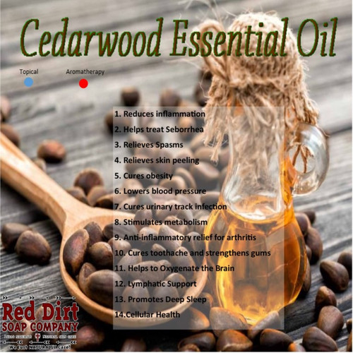 Cedarwood essential oil—Red Dirt Soap Company