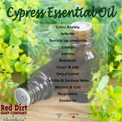 Cypress Essential Oil, Red Dirt Soap