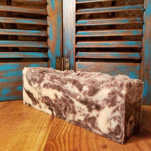 tangemon loaf, natural soap, natural skin care, red dirt soap, cinnamon, tangerine