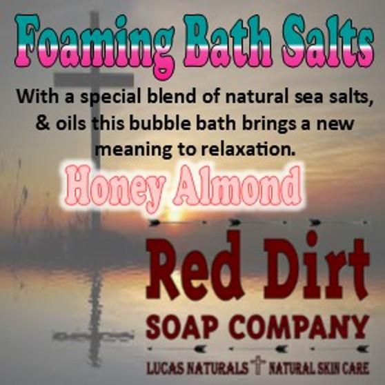 Honey Almond Foaming Bath Salt