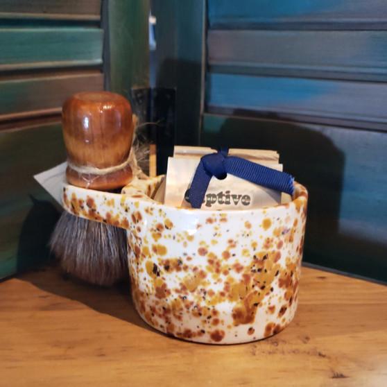 horse hair brush, handmade shave set, natural soap, red dirt soap