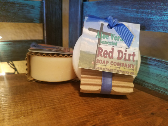 handmade shaving soap, red dirt soap