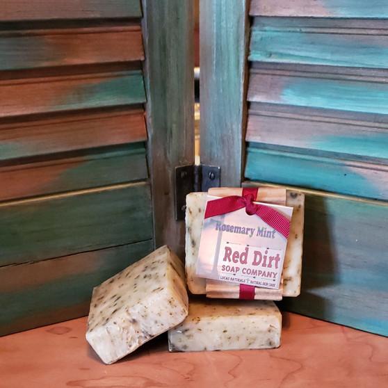 Rosemary Mint Bar, Red Dirt Soap, Natural soap, natural skin care