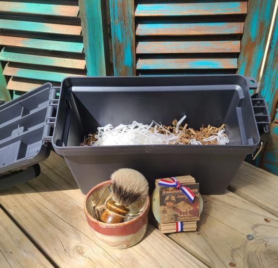 Hand Thrown Stoneware Shave Mug, Shave Mug, handmade shaving mug, red dirt soap