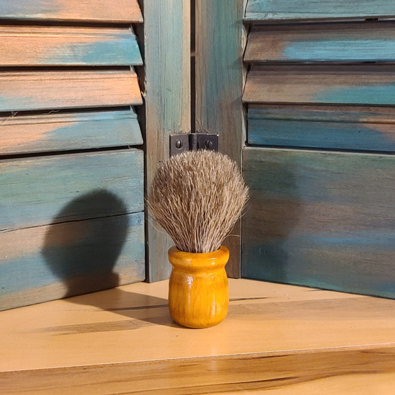 natural horse hair shave brush, horse hair, shave brush, handmade, red dirt soap, made in the USA