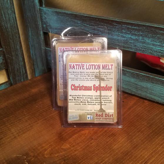 Christmas Splender Natural Lotion Melt