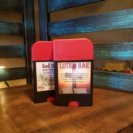 tea tree lotion bar, natural lotion bar, healthy skin, red dirt soap company