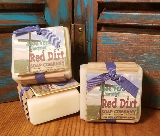 natural aloe soap, pure aloe, natural skin care, red dirt soap