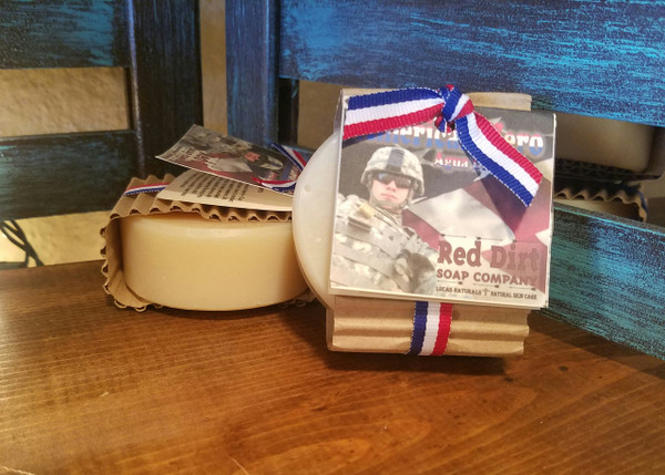 handmade shaving soap, red dirt soap