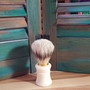 boar shave brush, white, shaving brush, skin care, red dirt soap, mens shaving kit