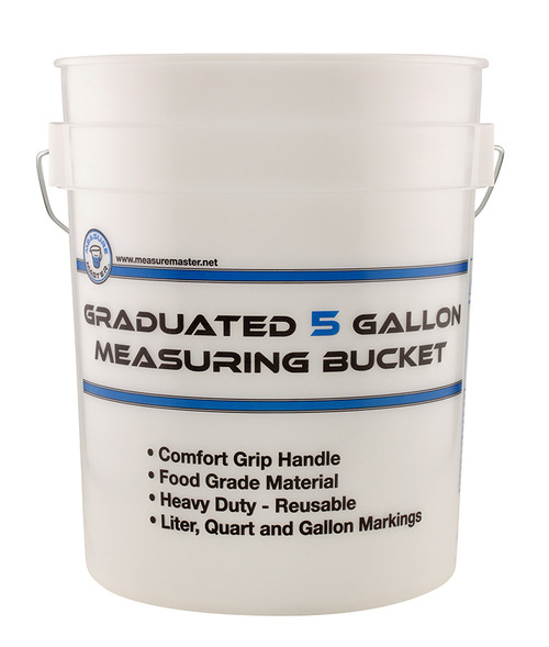 Measure Master Graduated Measuring Bucket 5 Gallon (FOOD GRADE)
