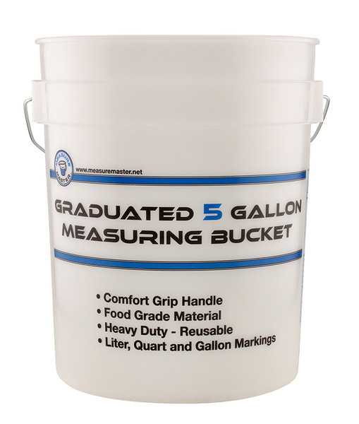 Measure Master Graduated Measuring Bucket 5 Gallon (FOOD GRADE)