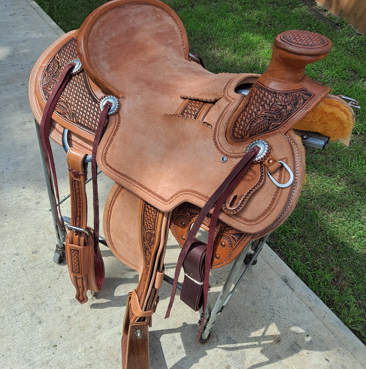 New Wade Saddle by Fort Worth Saddle Co with 16 inch seat. S1302