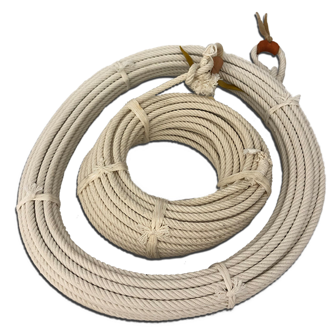 Cotton ranch rope, available in 45' or 60' sizes.