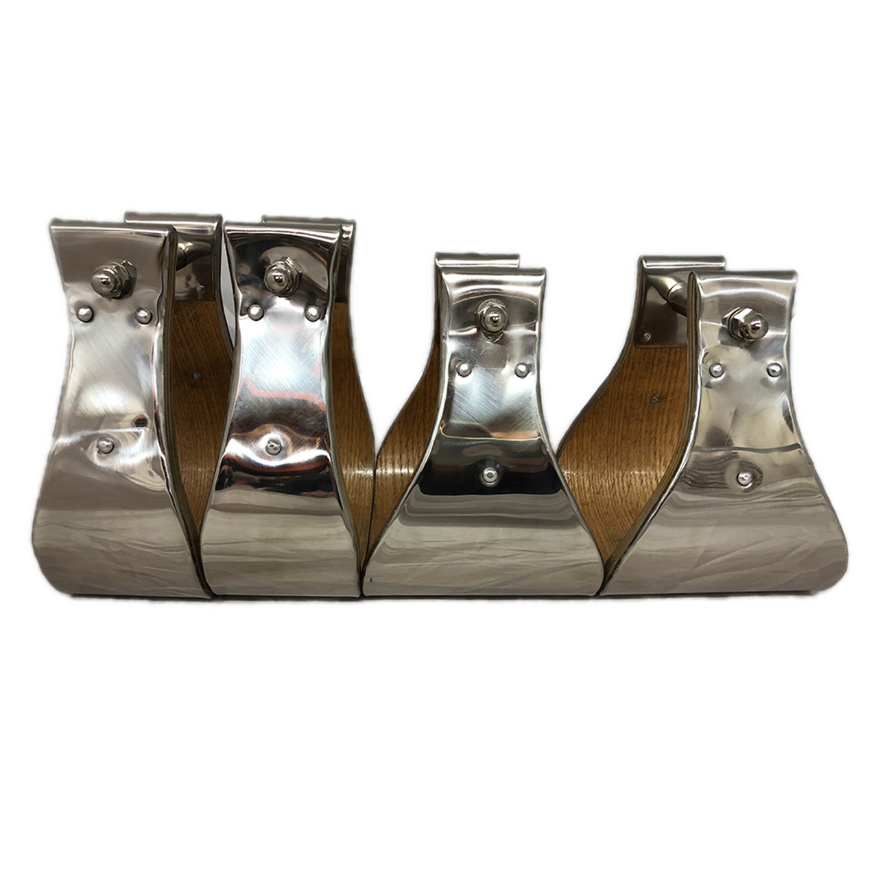 Stainless steel clad Monel stirrups. 3 & 5 inch sizes.