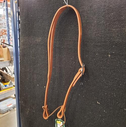 """Berlin Slit Ear Headstall. Single buckle with SS hardware. Hermann oak leather. 1"""" x 3/4""""."""