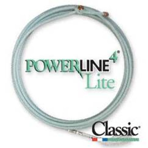 The Powerline4 combines four strand construction with the feel and handle of our best selling blended rope, the MoneyMaker®. It consists of four strands of twisted nylon and polyester filament wound around a Coretec nylon core. This increases the rope's weight and body, allowing you to throw with more accuracy and control. Plus, the Powerline4's nylon core widens the loop, maximizing your ability to make catches. And its smooth surface permits faster feeds.  SIZE: XXS, XS, S, MS