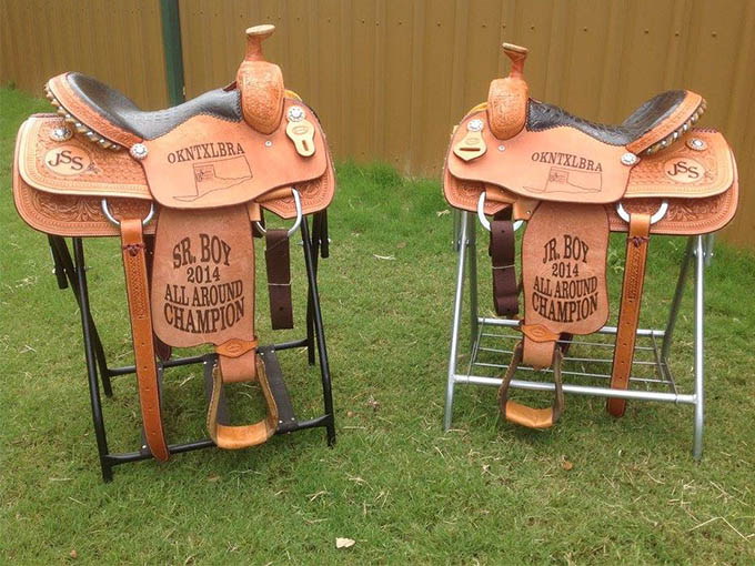 matching award saddles