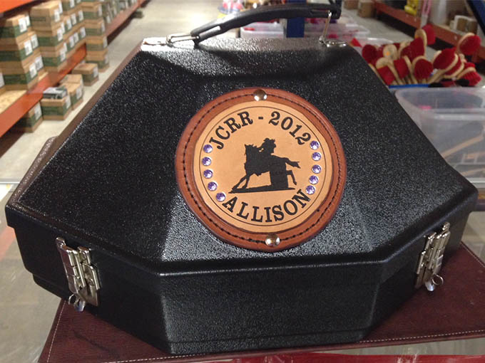 laser engraved award hat box