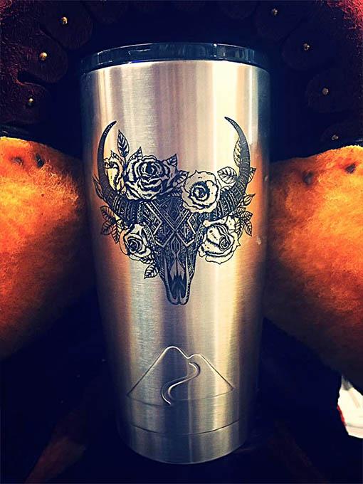 custom art tumbler cup