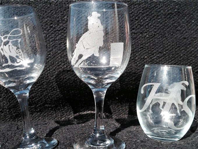 laser etched glasses