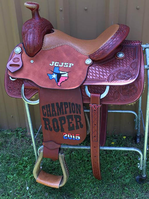 painted trophy saddle from fort worth saddle co
