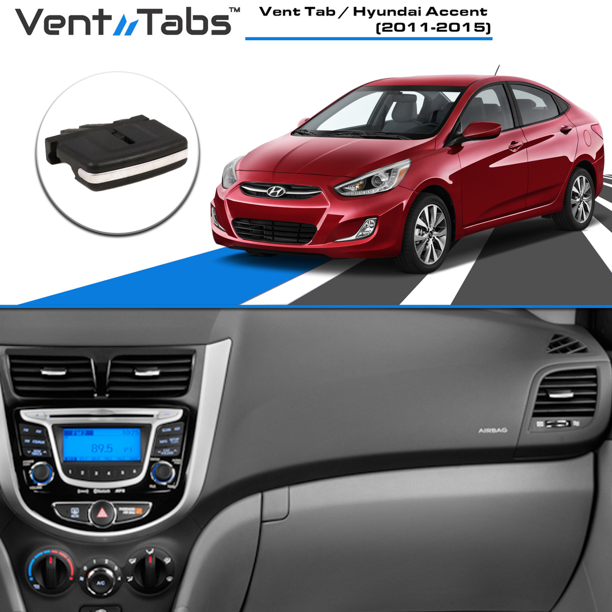 Hyundai Models 2015 >> Buy Vent Tabs Ac Vent Clips Hyundai Accent 2011 2015