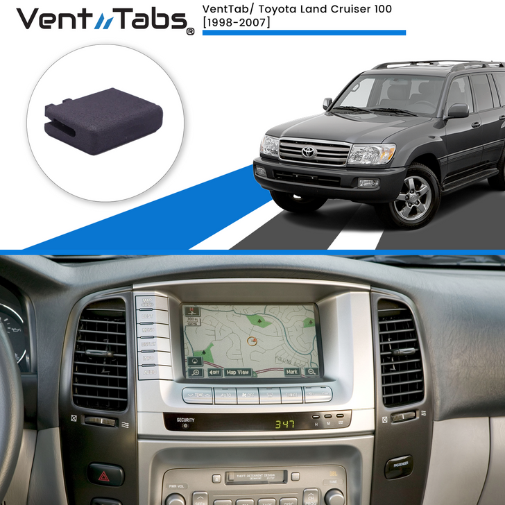 Venttabs Toyota Land Cruiser 100 1998-2007, to repair A/C Air vents