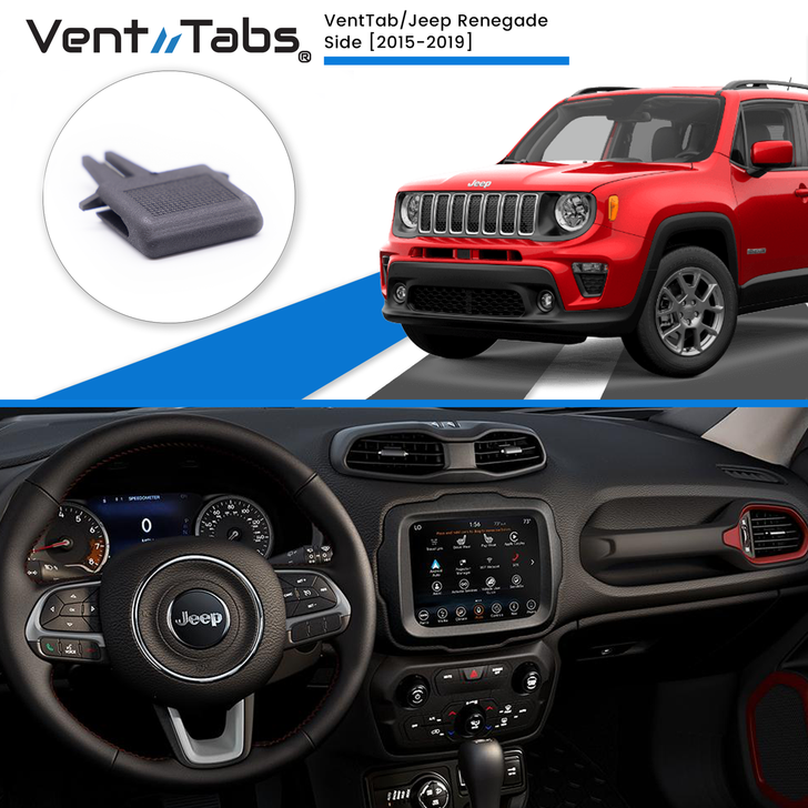 Venttabs Jeep Renegade  SIDE Vents  2015-2019 , to repair A/C Air vent