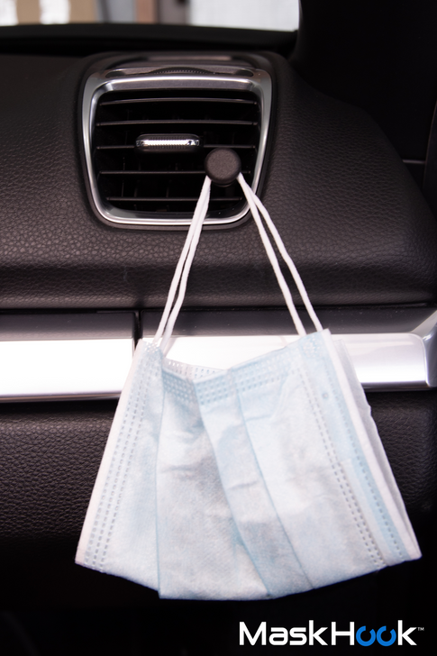 MASK HOOK| A Car Vent Dashboard Hanger | Keeps your mask clean and ready