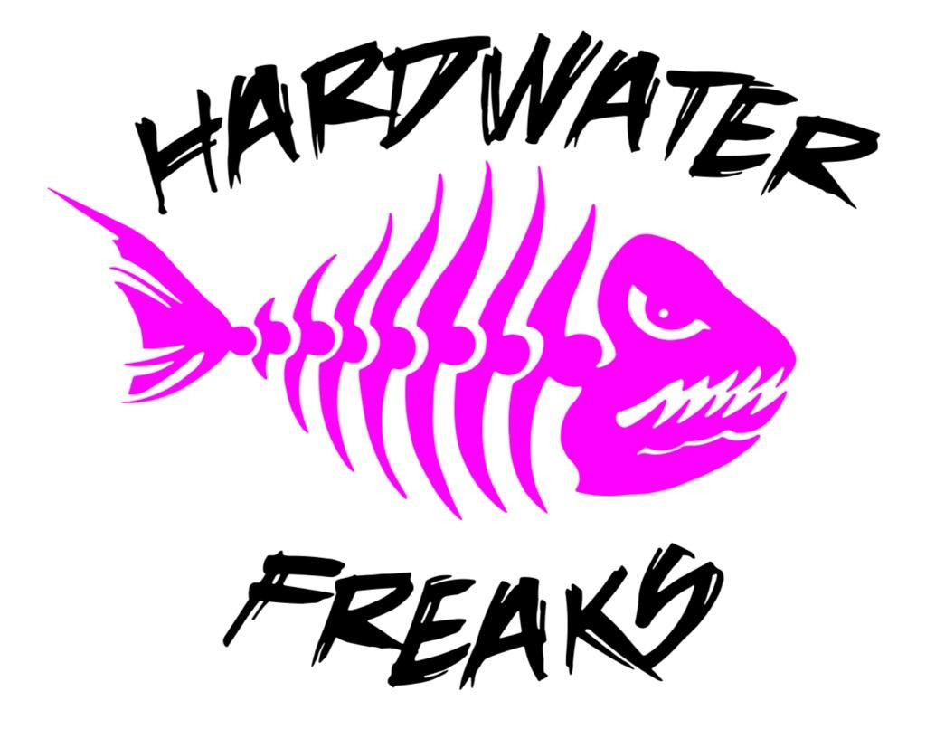 Hardwater Freaks Decal - Pink