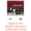 ASHI CPR AED Student Manual Certification Card