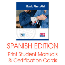 ASHI Basic First Aid Certification Card Student Manual G2015
