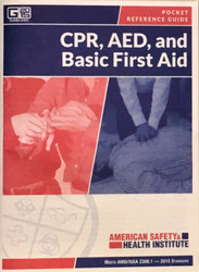 ASHI CPR AED First Aid Pocket Guide G2015