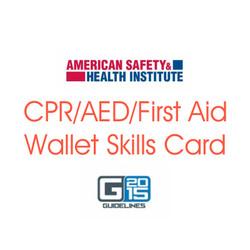 ASHI CPR AED FA Wallet Skills Card G2015