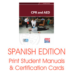 ASHI CPR AED Spanish Student Manuals Certification Cards