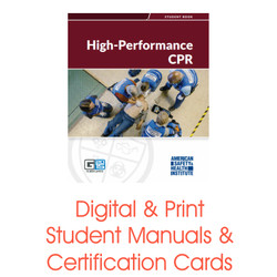 ASHI High Performance CPR Certification Card Student Manual