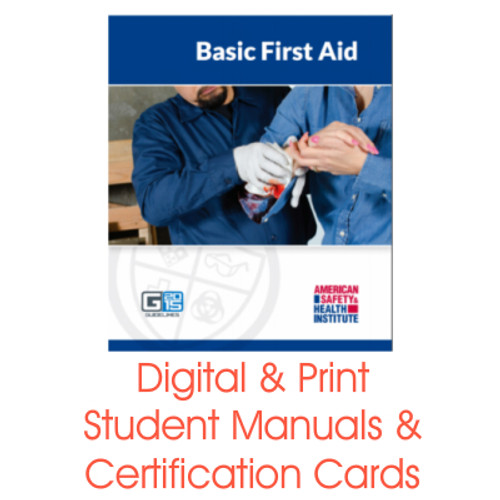 ASHI Basic First Aid Certification Card Student Manual