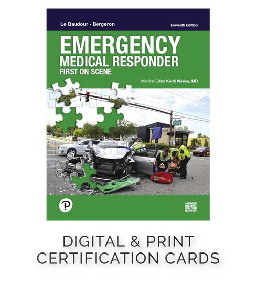 ASHI Emergency Medical Response Certification Cards (Set of 5; G2019)